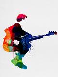 The Police Watercolor Plastikskilt af Lora Feldman