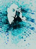 Sergey Rachmaninov Watercolor Plastic Sign by Anna Malkin