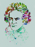 Beethoven Watercolor Plastic Sign by Anna Malkin