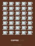 Brown Coffee Poster Targa di plastica di  NaxArt