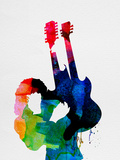 Jimmy Watercolor Plastikskilt af Lora Feldman