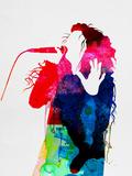 Lorde Watercolor Targa di plastica di Lora Feldman