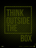 Think Outside of The Box Poster Targa di plastica di  NaxArt