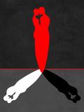 Red Kiss Shadow Placa de plástico por Felix Podgurski