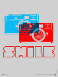 Smile Camera Poster Plastic Sign by  NaxArt