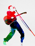 Elvis Watercolor Plastic Sign by Lora Feldman