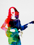 Frank Watercolor Plastikskilt af Lora Feldman