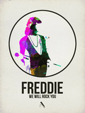 Freddie Watercolor Plastic Sign by David Brodsky