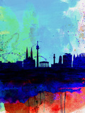 Vienna Watercolor Skyline Plastic Sign by  NaxArt
