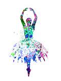 Ballerina Dancing Watercolor 4 Kunststof borden van Irina March
