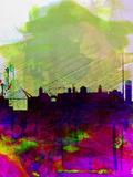 Dublin Watercolor Skyline Plastikschild von  NaxArt