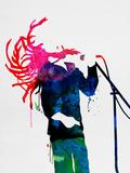 Bob Watercolor Plastikskilt af Lora Feldman