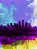 Louisville Watercolor Skyline Plastikschild von  NaxArt