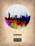 New York Air Balloon Plastikschild von  NaxArt
