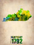 Kentucky Watercolor Map Plastskilt av  NaxArt