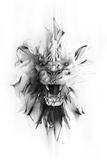 Stone Lion Print by Alexis Marcou