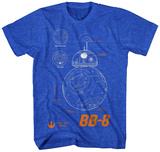 Star Wars The Force Awakens- BB-8 Plans T-skjorter
