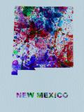 New Mexico Color Splatter Map Plastskilt av  NaxArt
