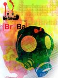 Br Ba Watercolor 3 Plastic Sign by Anna Malkin