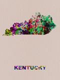 Kentucky Color Splatter Map Plastskilt av  NaxArt
