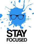 Stay Focused Splatter 2 Targa di plastica di  NaxArt