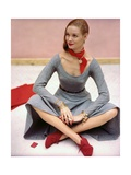 Vogue - December 1945 Photographic Print by John Rawlings
