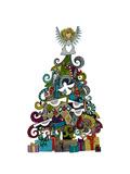 Angel Tree Premium gicléedruk van Sharon Turner