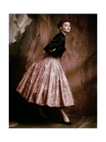 Vogue - October 1953 Premium Photographic Print by John Rawlings
