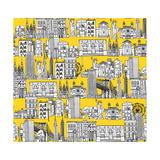 New York Yellow Premium gicléedruk van Sharon Turner