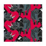 Rhinoceros Red Posters van Sharon Turner