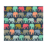 Baby Elephants and Flamingos (Variant 1) Poster van Sharon Turner