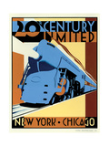 NY to Chicago Poster van Brian James