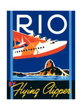 Rio by Flying Clipper Posters van Brian James