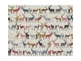 Oatmeal Spice Deer Posters van Sharon Turner