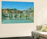 Il Fiume Tevere Roma Vægplakat af Richard Harpum