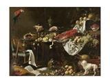Banquet Still Life, 1644 Giclée-tryk af Adriaen van Utrecht
