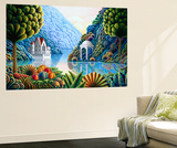 Teal Lake Wall Mural by Andy Russell