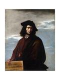 Self Portrait, C.1641 Giclée-tryk af Salvator Rosa