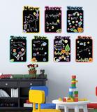 Kid's Diary Chalkboard Muursticker