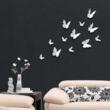 3D Butterflies - White Autocollant mural