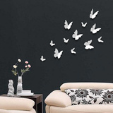 3D Butterflies - White Muursticker