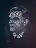 Alan Turing Typography Quotes Láminas por  Lynx Art Collection