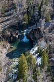 An Aerial View of Old Crystal Mill on Crystal River Photographic Print by Pete McBride