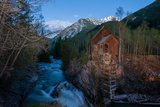 Crystal Mill Sits on a Rocky Outcropping over Crystal River, Colorado Photographic Print by Pete McBride