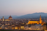 Sunrise over Florence, Including Santa Maria Del Fiore Cathedral, and the Basilica of Santa Croce Photographic Print by Erika Skogg