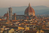 Sunrise over the Duomo and Florence Cathedral Photographic Print by Erika Skogg