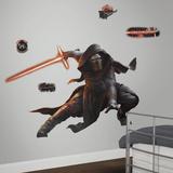 Star Wars: Ep VII Kylo Ren Peel & Stick Giant Wall Decal Glow In The Dark Muursticker