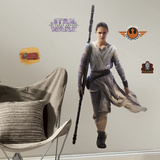 Star Wars: Ep VII Rey Peel & Stick Giant Wall Decal Muursticker