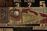 Vintage Ball Park Affiche par Eric Yang