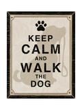 Keep Calm and Walk the Dog Giclée-Premiumdruck von Piper Ballantyne